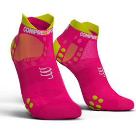 Compressport Pro Racing V3.0 UItralight Run Low juoksusukat , vaaleanpunainen